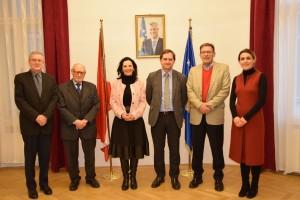 Empfang beim kosovarischen Botschafter in Wien - Zana Rugova, Uwe Nowitzki, Botschafter Sami Ukelli, Lule Elezi, Dr. Theodor Kanitzer, Johann GüntherDSC_0039