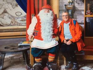 Beim Weihnachtsmann in Rovanjiemi, Finnland