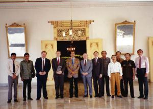 Sultan Jojakarta, Indonesien, April 1991